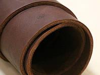 Натуральная кожа КРС,ременной (чепрак)коричневый краст3,6-4,0мм, сорт люкс