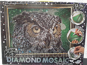 """Алмазная живопись """"Сова"""" мозаика по номерам размер 30*20см DankoToys"""