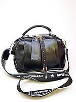 Женская сумка Polina&Eiterou 16х22 см Черная (01075)