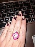 Красивое кольцо жеода агата в позолоте. Кольцо с жеодой агата 18 размер Индия!, фото 2
