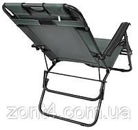 Складной лежак ACRYLIC ZIE черный садовый пляжный дачный, фото 4