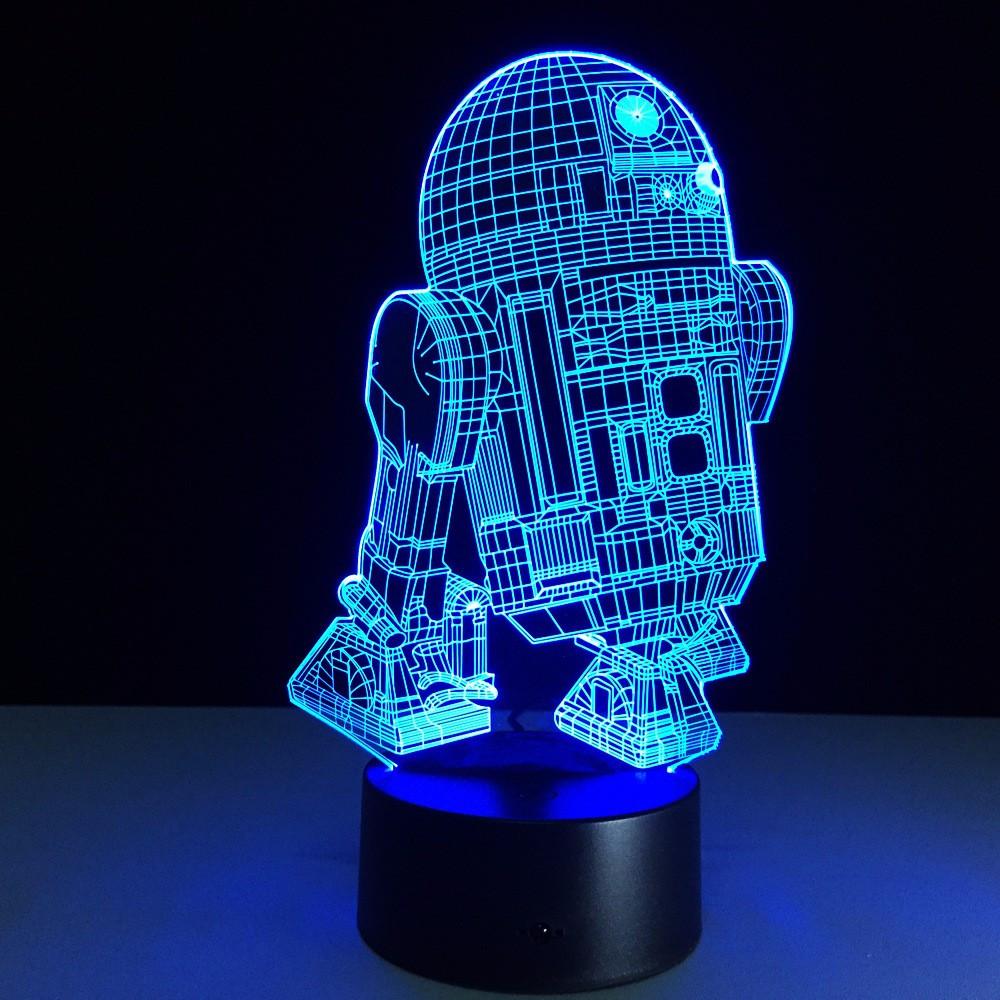 "Светильник-ночник 3D Лампа ""Star Wars R2-D2"" 7 цветов + пульт"