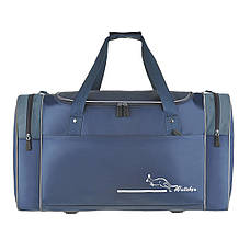 Большая дорожная сумка Wallaby  63х36х27 синий нейлон 420Д  на ПВХ основе  в 430син, фото 2