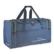 Большая дорожная сумка Wallaby  63х36х27 синий нейлон 420Д  на ПВХ основе  в 430син сер