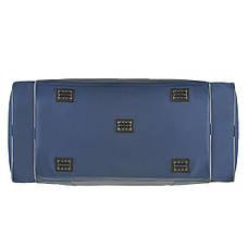 Велика дорожня сумка Wallaby 63х36х27 синій нейлон 420Д на ПВХ основі 430син сер, фото 3