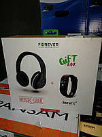 Навушники безпровідні Forever BHS-300+смарт браслет в подарунок.