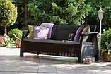 Тримісна софа зі штучного ротангу CORFU LOVE SEAT MAX графіт ( Allibert ), фото 9