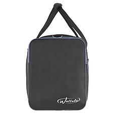 Дорожная сумка Wallaby чёрно-синяя 63х36х27 ткань нейлон 420Д  на ПВХ основе  в 430ч син, фото 3