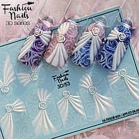 Декор для маникюра Fashion Nails водный цветной 3D слайдер-дизайн цветы (3D/53)