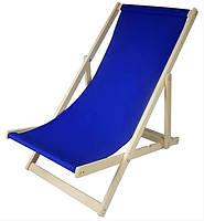 Складной лежак садовый пляжный дачный из бука или дуба темно-синего цвета, фото 2