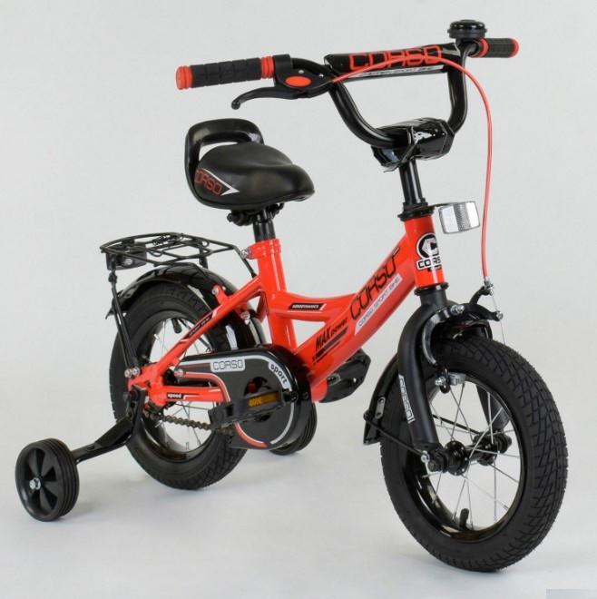 Велосипед детский двухколесный 12 красный Corso CL-12D0106