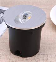Світильник для підсвічування ступенів Алюміній K-2415S LED 3W 6000K 60мм IP44 silver, фото 4