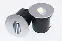 Світильник для підсвічування ступенів Алюміній K-2415S LED 3W 6000K 60мм IP44 silver, фото 5