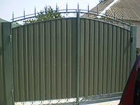 Ворота въездные, металлические, распашные