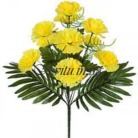Искусственные цветы букет гвоздик, 51см
