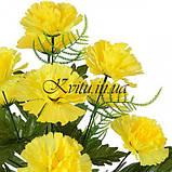 Искусственные цветы букет гвоздик, 51см, фото 2