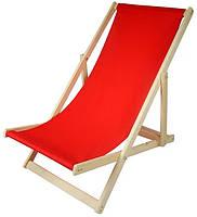 Складной лежак садовый пляжный дачный из бука или дуба бордового цвета, фото 5