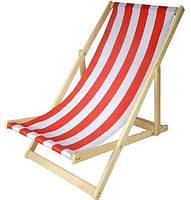 Складной лежак садовый пляжный дачный из бука или дуба бордового цвета, фото 8