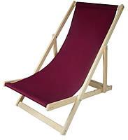 Складной лежак садовый пляжный дачный из бука или дуба желтого цвета, фото 3