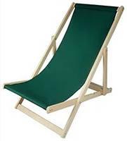 Складной лежак садовый пляжный дачный из бука или дуба желтого цвета, фото 4