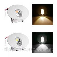 Світильник для підсвічування ступенів Алюміній K-2415S LED 3W 6000K 60мм IP44 silver, фото 6