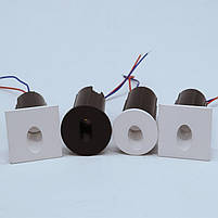 Світильник для підсвічування ступенів Алюміній K-2415S LED 3W 6000K 60мм IP44 silver, фото 7