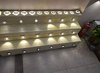 Світильник для підсвічування ступенів Алюміній K-2415S LED 3W 6000K 60мм IP44 silver, фото 9
