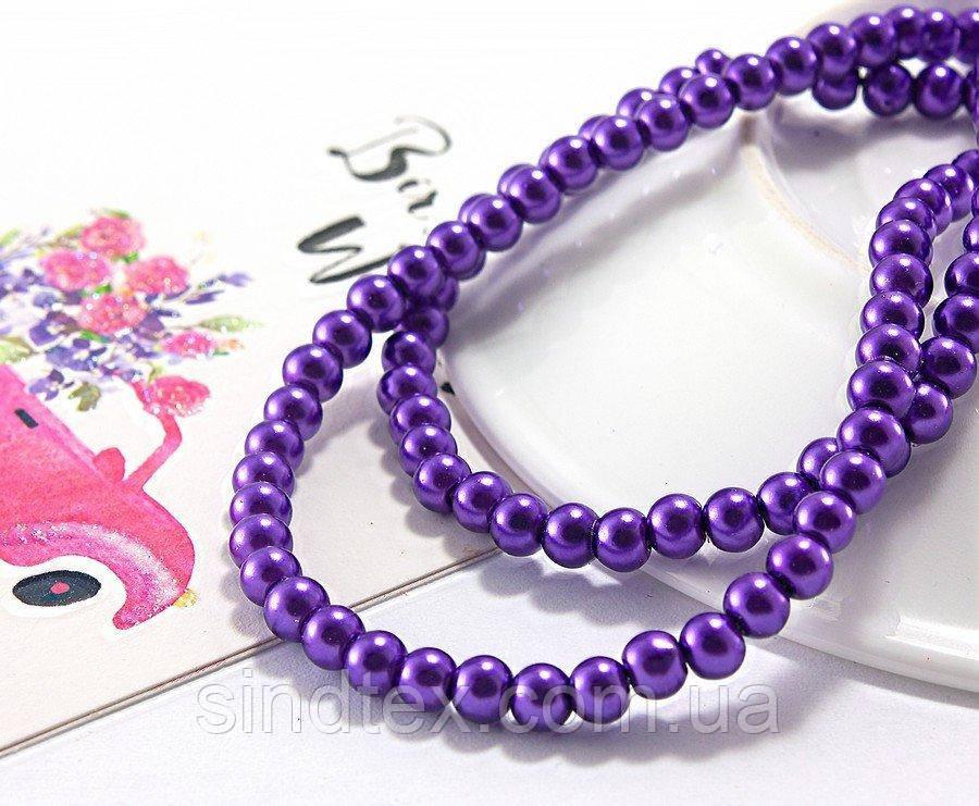 Жемчуг стеклянный  Ø4мм, упаковка  150 штшт, цвет - Фиолетовый (сп7нг-4788)