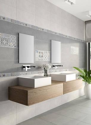 Декор InterСerama  Viva  сірий  23x50 Д 145 071-3, фото 2