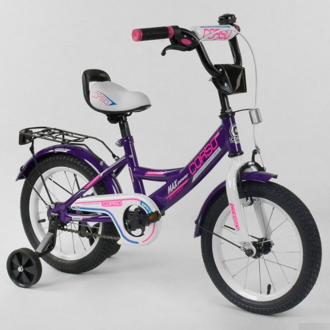 Велосипед детский двухколесный фиолетовый 14 Corso CL-14D0485