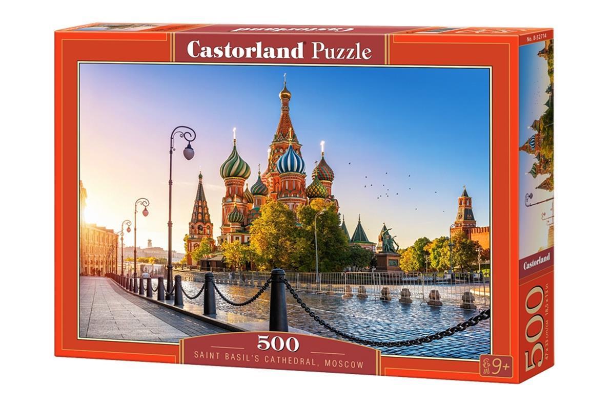Купить Пазлы 500 элементов Собор Василия Блаженного, Москва , В-52714 | Castorland