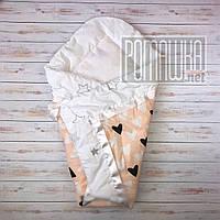 Летний конверт одеяло плед 75*75 на детский на выписку новорожденных из роддома тонкий лето 3077 Розовый 2
