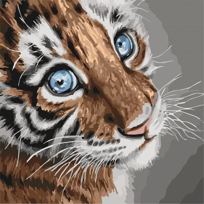 Картина по номерам Идейка - Тигренок 40x40 см (КНО4145)