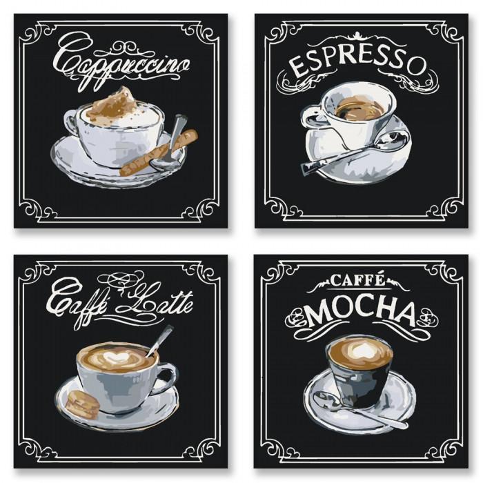 Набор для раскрашивания по номерам ПОЛИПТИХ Вкусное кофе ТМ Идейка KNP001