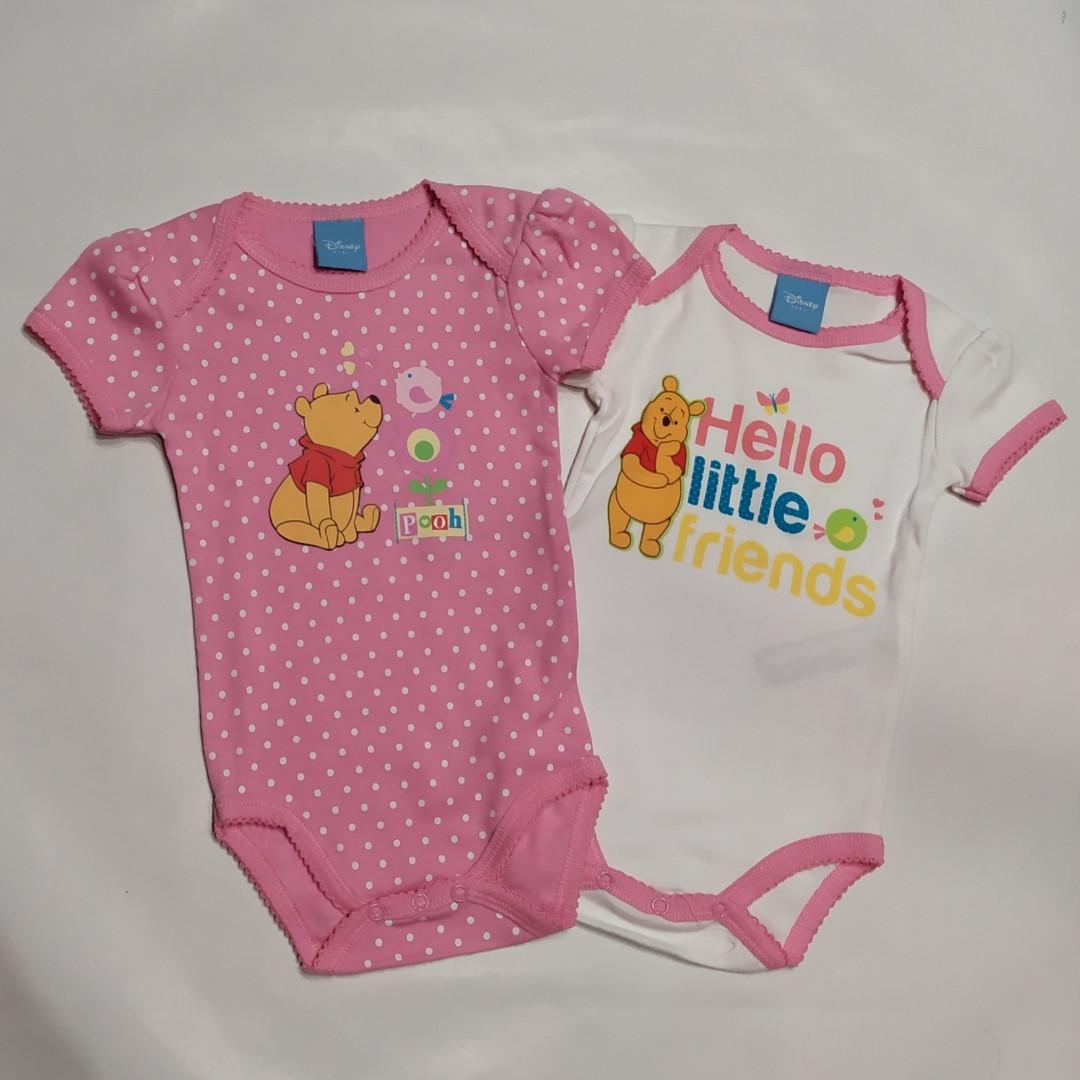 Набор боди для девочки короткий рукав Винни Пух Disney baby  р.6-9 мес