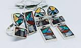 Комплект з натуральної мозаїкою срібло Арт Деко, фото 2