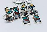Комплект з натуральної мозаїкою срібло Арт Деко, фото 3