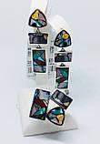 Комплект з натуральної мозаїкою срібло Арт Деко, фото 5