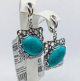 Сережки у сріблі з бірюзою Форос, фото 4