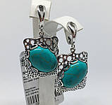 Сережки у сріблі з бірюзою Форос, фото 5