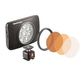 LED светильник  ManfrottoLumimuse с 8 светодиодами и аксесс., черный