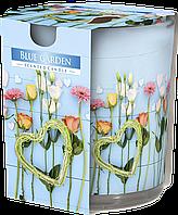 """Ароматическая свеча в стекле BISPOL sn72s-08 """"Голубой сад"""""""