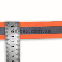 35*10 мм С/О лента оранжевая с С/О полосой {R=100}