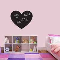 Наклейка для рисования мелом Школьная доска Волшебное сердечко (сердечко, сердце, серце для крейди)