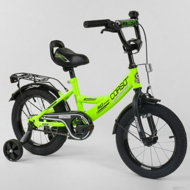 Велосипед детский двухколесный салатовый 14 Corso CL-14D0671