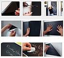 Наклейка для рисования мелом Школьная доска Бородач (смайлик, хипстер, очки и борода), фото 3