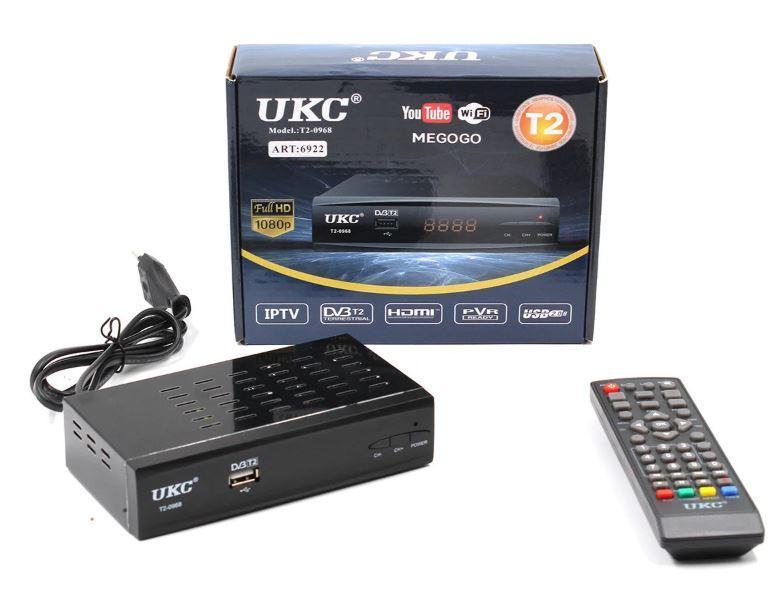 Тюнер DVB-T2 0968 с поддержкой wi-fi адаптера