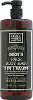 Dead Sea Collection Amber Wood Гель для душу чоловічий 3 в 1 для тіла, волосся й обличчя 1000 мл