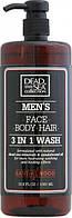Dead Sea Collection Sandalwood Гель для душу чоловічий 3 в 1 для тіла, волосся й обличчя 1000 мл