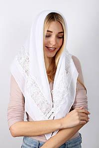 Урочисті шарфи FAMO Хустку Алін білий 90*90 (PVC-1912) #L/A